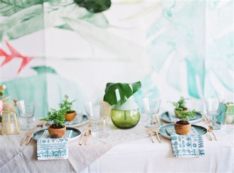 Tropical Shower by How To Throw A Tropical Bridal Shower Green Wedding Shoes