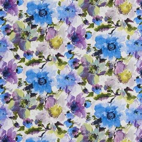 bb purple  blue large floral patterned print