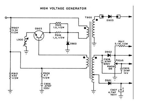 High Voltage Generators Power Supply Circuit