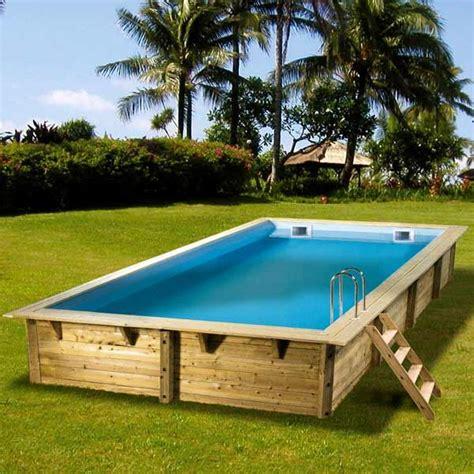 piscine hors sol bois rectangulaire 350x650 achat vente piscine piscine hors sol bois les