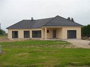 Maison Plain Pied En L : maison de plain pied 27 14426 gueudry ~ Melissatoandfro.com Idées de Décoration