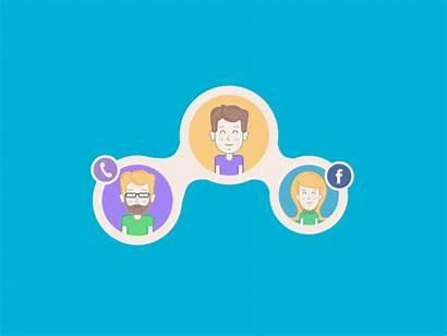 Social Network Animation Communication Ux Studio App