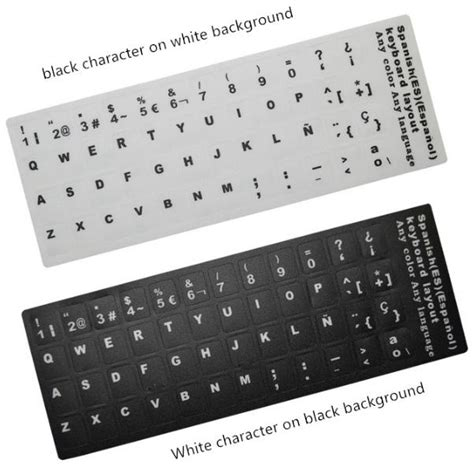 spanish letters on keyboard letters alphabet learning keyboard layout sticker 24930 | spanish letters alphabet learning keyboard