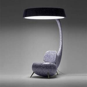 Unique Chair with Big Lamp Inspired by Anglerfish – Light ...