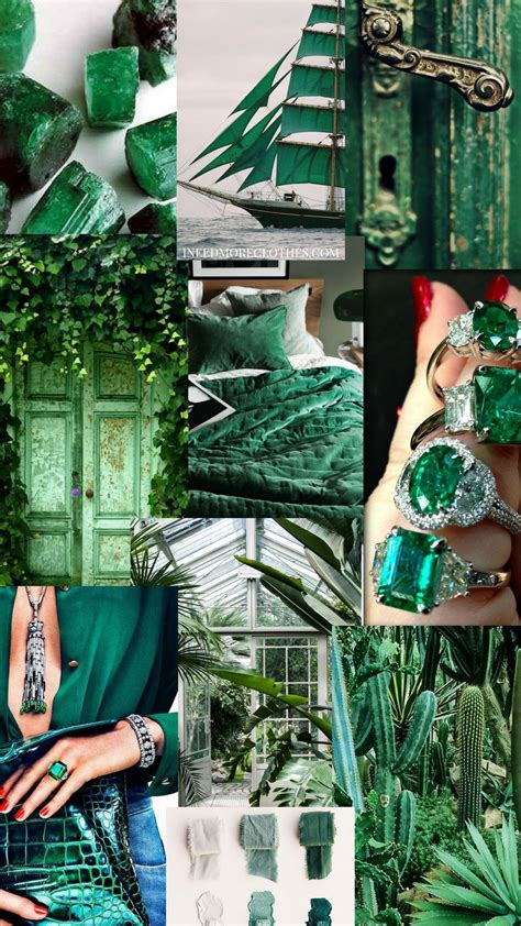 8 aesthetic collage green and blue green wallpaper