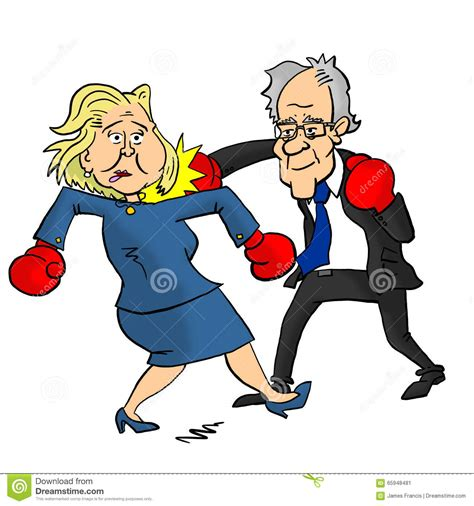 bernie sanders beating hillary clinton editorial photo