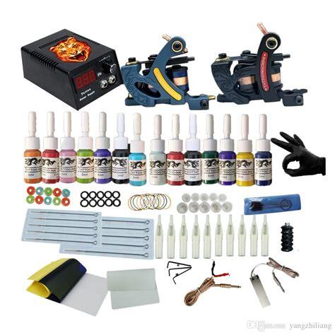 Professional Complete Tattoo Kits 2 Coil Guns Machine Set