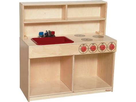 Wooden Toddler Play Kitchen Sink and Stove WDE 40800