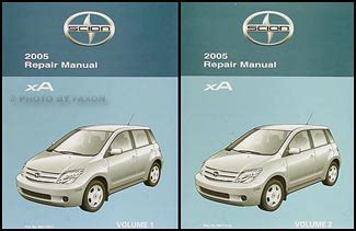 free online car repair manuals download 2005 scion xa security system 2005 scion xa repair shop manual original 2 vol set