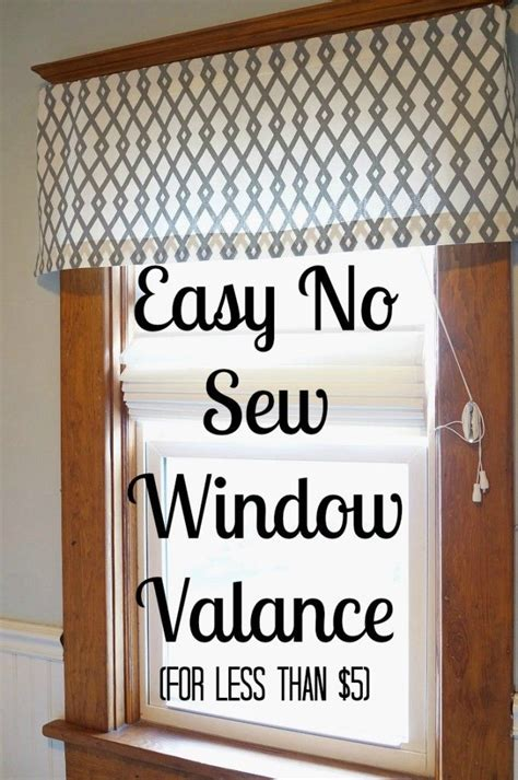 Bathroom Window Valances by Easy Diy No Sew Window Valance Curtains Diy Curtains