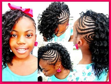 Braided Mohawk Crochet Weave, Crochet Braid For Little
