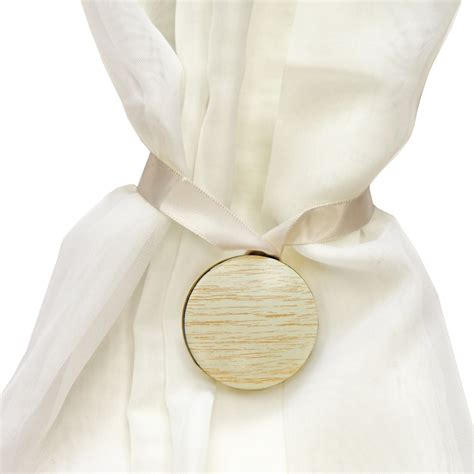 magnetic curtain tie back circle holdback for voile nets