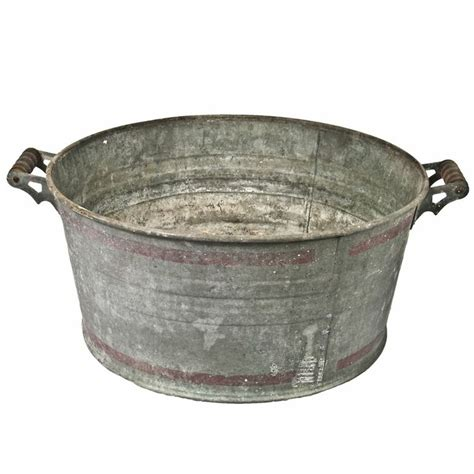 Fiat Stands For by Vintage Galvanized Wash Tub Omero Home