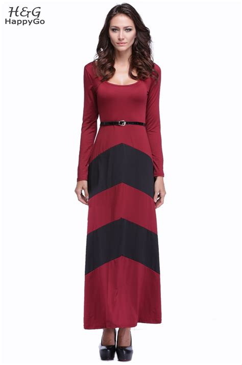 2016 Plus Size Women Casual Maxi Dress Long Sleeve Pleated