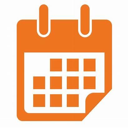 Calendar Icon Orange Date Timeline Clipart Clip