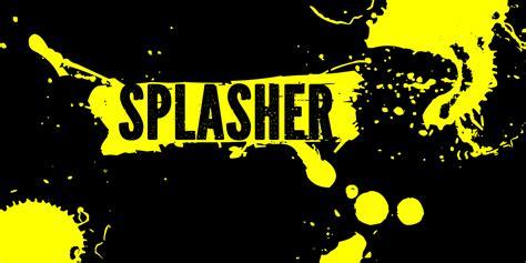 Splasher Font By Grin3 (nowak