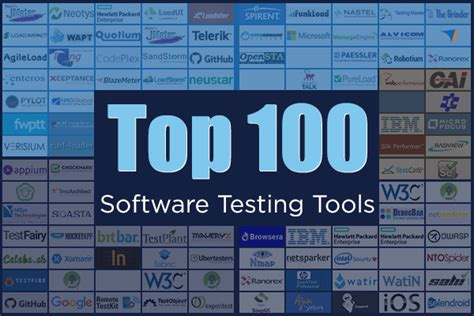 list of 100 software testing tools to meet your testing