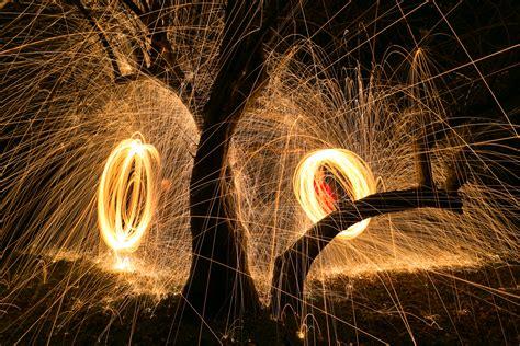 spin light painting  steel wool greg