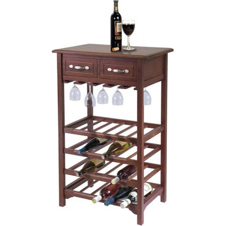 walmart wine rack wine and glass rack with two drawers antique walnut