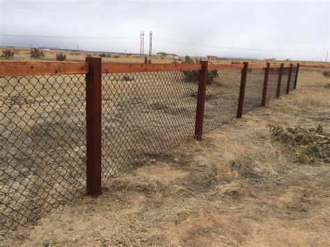 california chain link fence   cedar posts