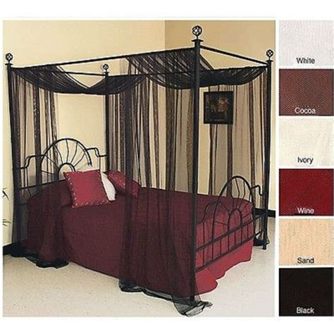 canopy bed sheers black canopy bed curtains home design