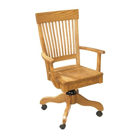 desk arm chair amish crafted furniture