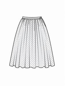 Gathered skirt Line drawings and Skirts on Pinterest