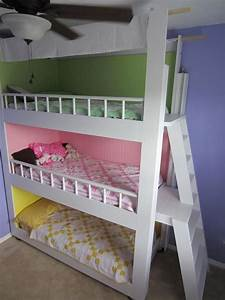 Triple Bunk Beds....need to do this for my girls! | DIY ...