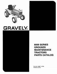Gravely 8000 Series Parts Manual For Tractors