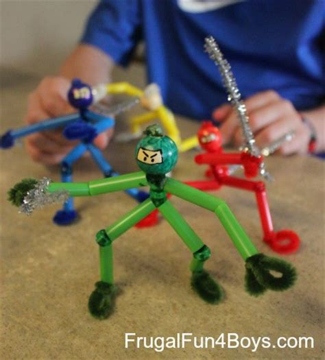 and crafts ideas for boys pipe cleaner ninjas