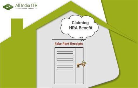 house rent allowance fake rent receipts not valid