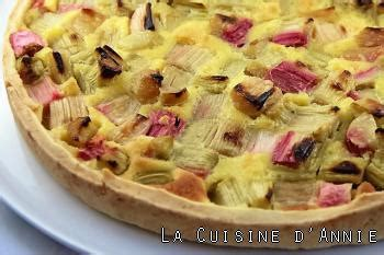 passoire de cuisine recette tarte à la rhubarbe la cuisine familiale un
