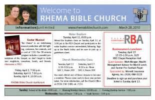 Free Sample Church Program Template