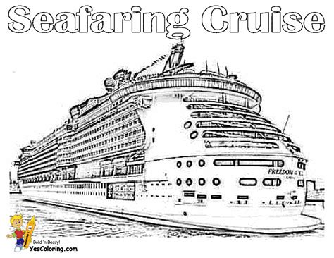 Stupendous Cruise Ship Coloring Pages Free Ships Cruises
