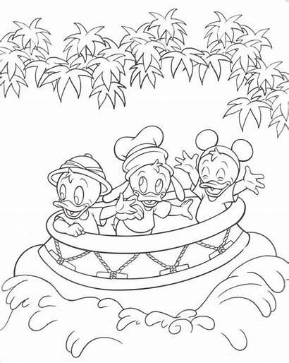 Coloring Disney Pages Disneyland Walt Castle Kingdom
