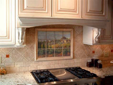 tuscan kitchen backsplash tuscan marble tile mural in kitchen backsplash