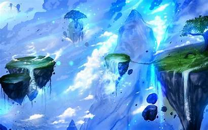 Floating Island Fantasy Artwork Ryky Painting Deviantart