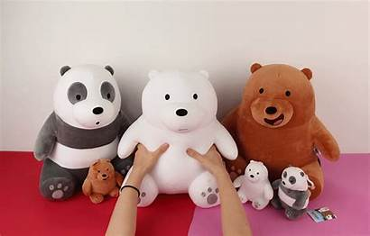 Bears Bare Bear Ice Sitting Plushie Grizzly