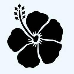 Hibiscus Flower Stencil Template