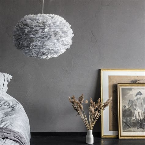 Buy Large Eos Feather Light Shade   Grey Online