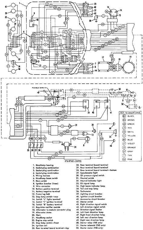 des harley davidson big wiring diagrams for h des