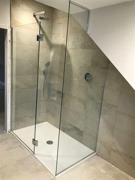 Walk In Bathroom Shower Enclosures by Frameless Walk In Shower Enclosure With Flap Panel And End