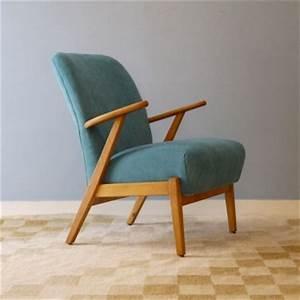 Fauteuil Vintage Scandinave : fauteuil vintage scandinave bleu design 50 la maison retro ~ Dode.kayakingforconservation.com Idées de Décoration