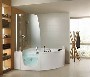 Corner, Jacuzzi, Tub, With, Shower, Maximize, Space, Efficiency