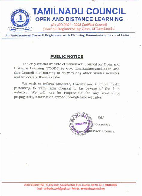 Approval Letters – Tamilnadu Council – Open & Distance ...