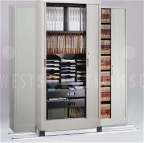 tambour door storage cabinets    lateral