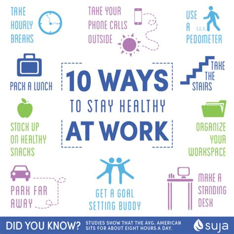 10 Ways To Stay Healthy At Work  Suja Juice