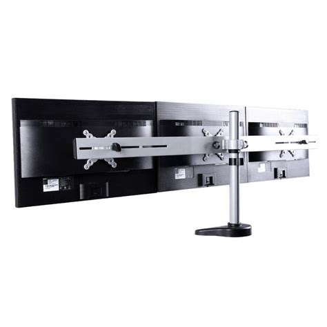 desk depth for 24 monitor fleximounts triple monitor arm desk mounts lcd stand for