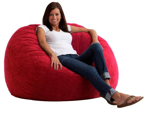 Comfort Research 4' Large Fuf Bean Bag Chair In Sierra Red Baby Bathtub Sponge 4 Foot Shower Combo Kohler Faucets Non Slip Pad For How To Fix Plug American Standard Installation Instructions Small Bathtubs Combos Reglazing Cost
