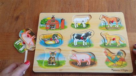puzzle time  kids melissa  doug farm animals